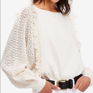 Free People Faff & Fringe Pullover Sweater, Sz M